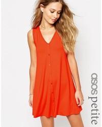 Оранжевое свободное платье