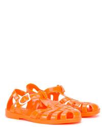 Детские оранжевые босоножки для девочке от Armani Junior