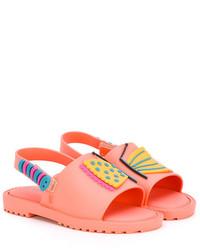 Детские оранжевые босоножки для девочке от Mini Melissa
