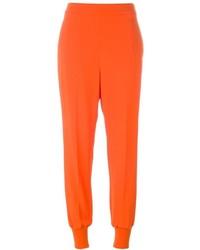 Оранжевые брюки-галифе