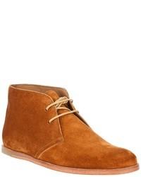 Оранжевые замшевые ботинки дезерты