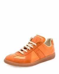 Оранжевые замшевые низкие кеды