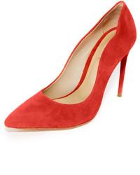 Оранжевые замшевые туфли от Schutz