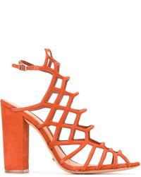 7e5bf2b804a6 Купить женские оранжевые босоножек Schutz - модные модели босоножек ...