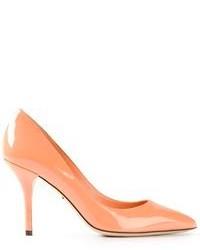 Оранжевые кожаные туфли