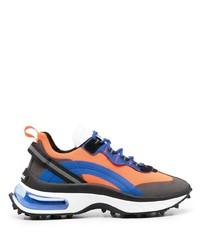 Мужские оранжевые кроссовки от DSQUARED2