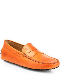 оранжевые мокасины original 555084