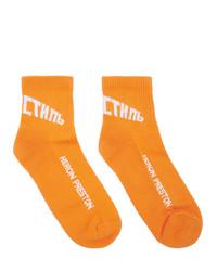 Мужские оранжевые носки с принтом от Heron Preston