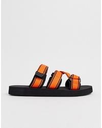 Мужские оранжевые сандалии из плотной ткани от ASOS DESIGN