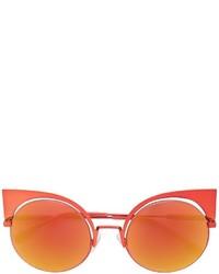 Женские оранжевые солнцезащитные очки