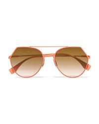Женские оранжевые солнцезащитные очки от Fendi