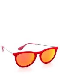 Женские оранжевые солнцезащитные очки от Ray-Ban