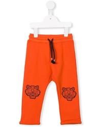 Детские оранжевые спортивные штаны для мальчику от Kenzo