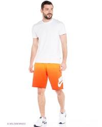 Мужские оранжевые шорты от Nike