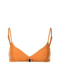 Оранжевый бикини-топ от Matteau