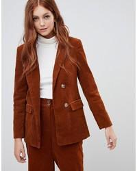 Женский оранжевый вельветовый пиджак от New Look