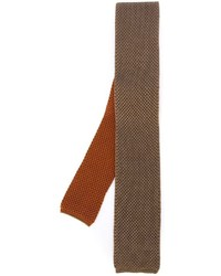 Мужской оранжевый вязаный галстук от Eleventy