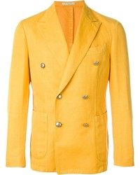 Оранжевый двубортный пиджак