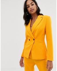 Женский оранжевый двубортный пиджак от ASOS DESIGN