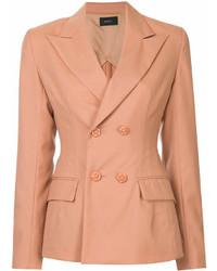Женский оранжевый двубортный пиджак от G.V.G.V.