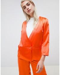 Женский оранжевый двубортный пиджак от Moss Copenhagen
