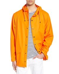 Оранжевый дождевик