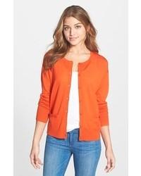 Оранжевый кардиган