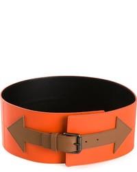 Оранжевый кожаный пояс