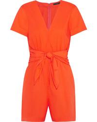 Оранжевый комбинезон с шортами от J.Crew
