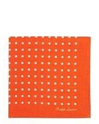 Оранжевый нагрудный платок в горошек