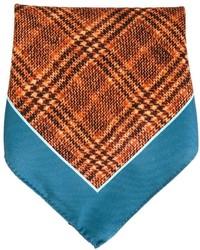 Оранжевый нагрудный платок с принтом от Kiton