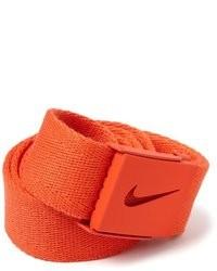 Оранжевый ремень из плотной ткани