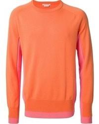Оранжевый свитер с круглым вырезом