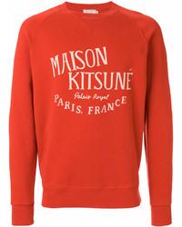 Мужской оранжевый свитшот с принтом от MAISON KITSUNÉ