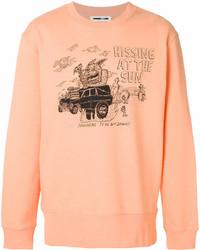 Мужской оранжевый свитшот с принтом от McQ