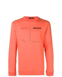 Мужской оранжевый свитшот с принтом от Raf Simons