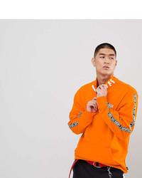 Мужской оранжевый свитшот с принтом от Vans