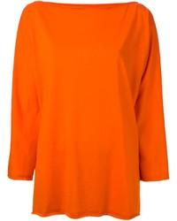 Оранжевый свободный свитер