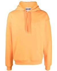 Мужской оранжевый худи от Moschino