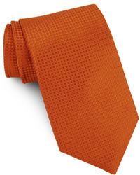 Оранжевый шелковый галстук