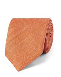 Мужской оранжевый шелковый галстук от Charvet
