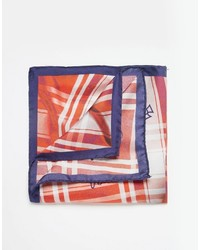 Оранжевый шелковый нагрудный платок в шотландскую клетку от Vivienne Westwood