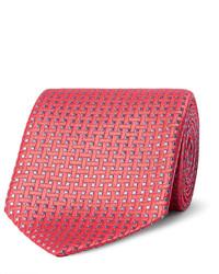 Мужской оранжевый шелковый плетеный галстук от Charvet