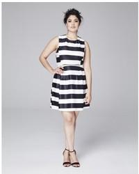 платье с плиссированной юбкой в горизонтальную полоску original 1425671
