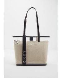 Прозрачная резиновая большая сумка от DKNY