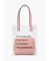 Прозрачная резиновая большая сумка от Keddo