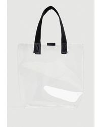 Прозрачная резиновая большая сумка от Pull&Bear