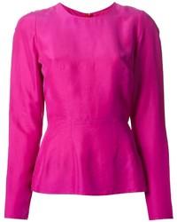 Пурпурная блузка с длинным рукавом