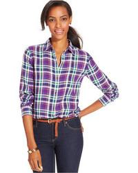 Пурпурная классическая рубашка
