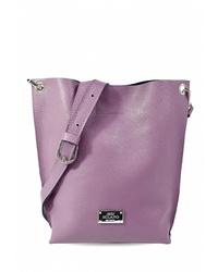 Пурпурная кожаная сумка через плечо от BB1